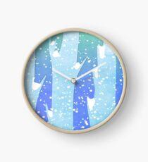 Wintery Trees Clock