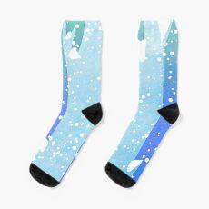 Wintery Trees Socks