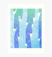 Wintery Trees Art Print