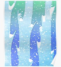 Wintery Trees Poster