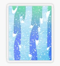 Wintery Trees Transparent Sticker