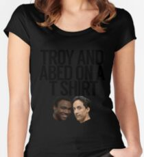 Troy And Abed On A T Shirt Women's Fitted Scoop T-Shirt