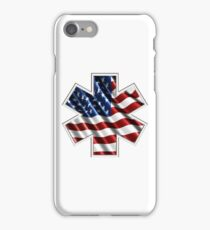EMS AMERICAN FLAG iPhone Case/Skin