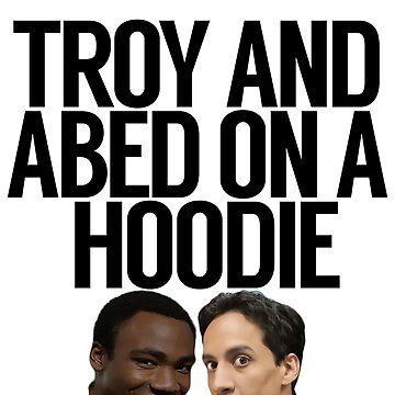 Troy y Abed en una sudadera con capucha de politedemon