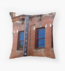 Blue Review Throw Pillow