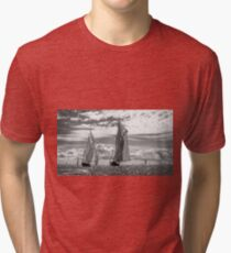 Racing On Open Waters B&W Tri-blend T-Shirt