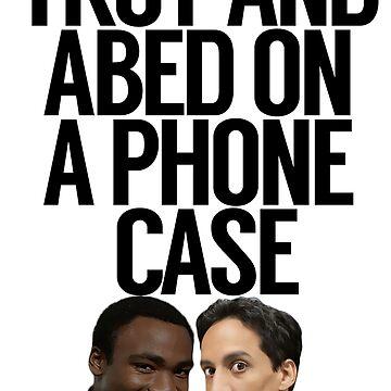 Troy y Abed en una caja del teléfono de politedemon
