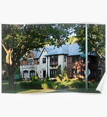 Lovely Old Tudor Style Home Poster