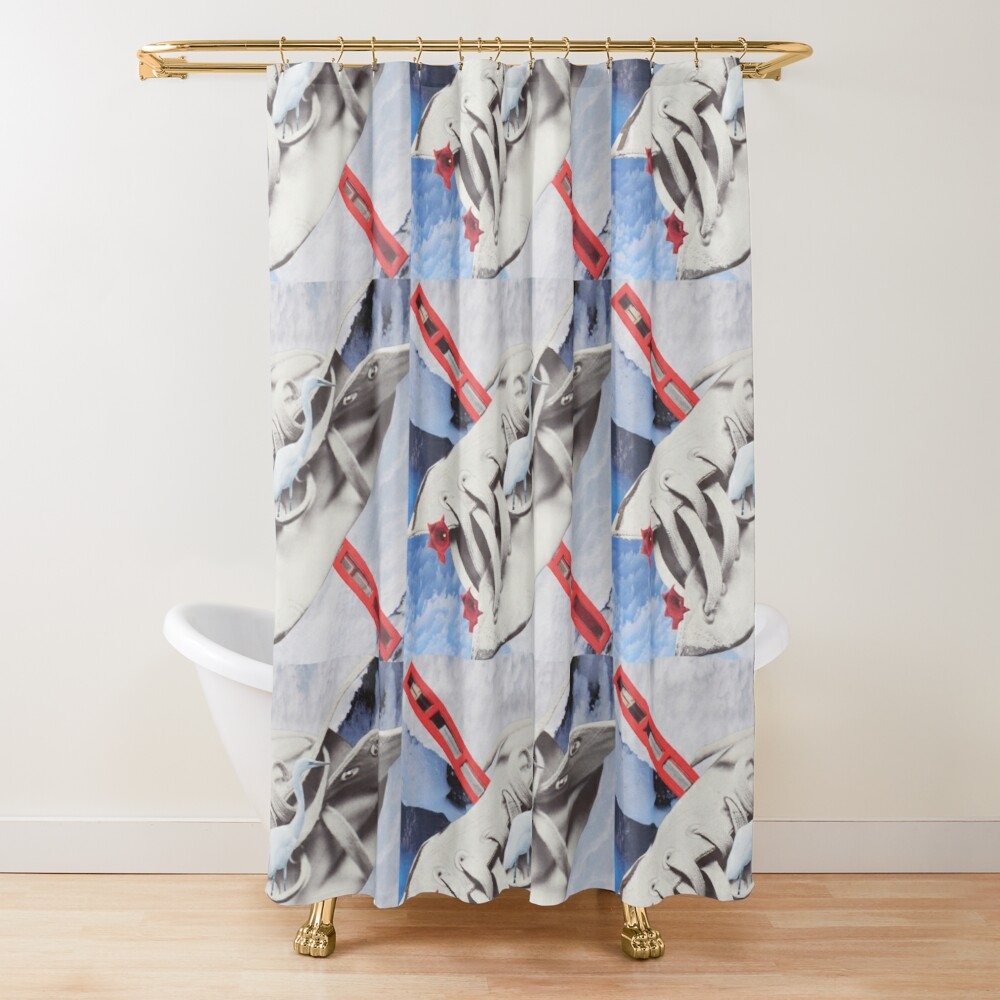Flying Below Delicate Psychedelic Shadows & Nude Rhythms of Fun Shower Curtain
