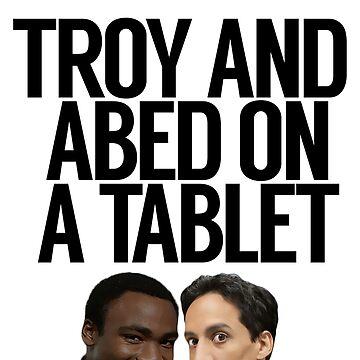 Troy y Abed en una tableta de politedemon