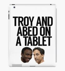 Troy And Abed On A Tablet iPad Case/Skin