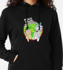 Peace Among Worlds Rick and Morty Funny Flipping Middle Finger shirt Fan Gift Lightweight Hoodie
