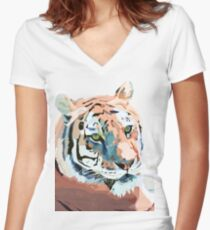 Tiger No.2 Fitted V-Neck T-Shirt