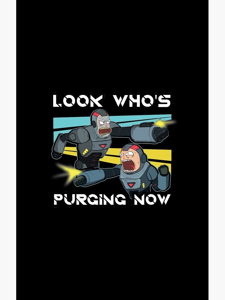 Look Whos Purging Now Rick and Morty Funny Purging Zombie Fighting Suits shirt Fan Gift by ViralAnimation