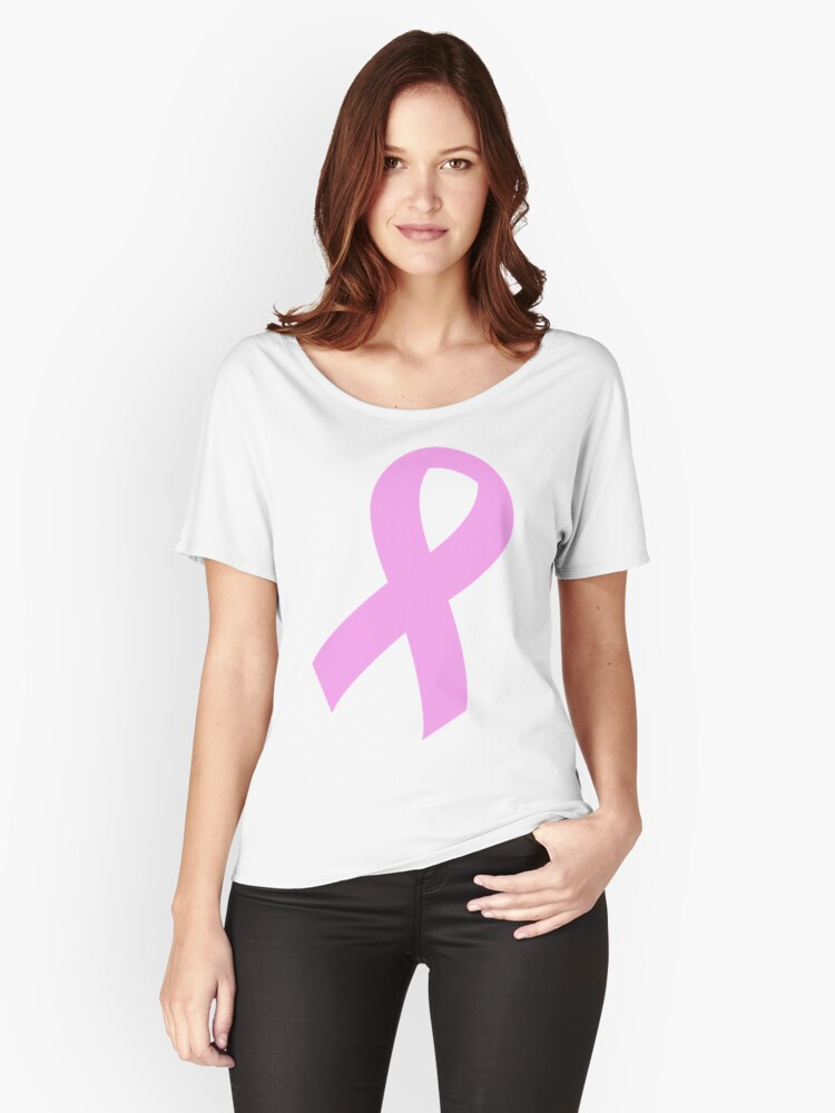 Breast Cancer Ribbon Women's Relaxed Fit T-Shirt Front