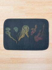 Rainbow Jellyfish Bath Mat