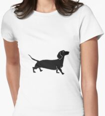 Connect The Doxie Dots Womens Fitted T-Shirt