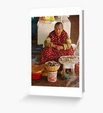 Market Lady Greeting Card