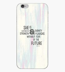 Pretty Painted Modern Typographic Bible Verse. iPhone Case