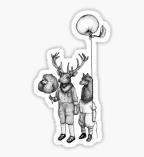 Deerboy and Alpacaboy at the fun fair Sticker