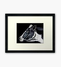 Holstein Friesian Dairy Cow Portrait Framed Print