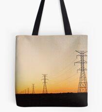 Powerlines at Wyoming Sunset  Tote Bag