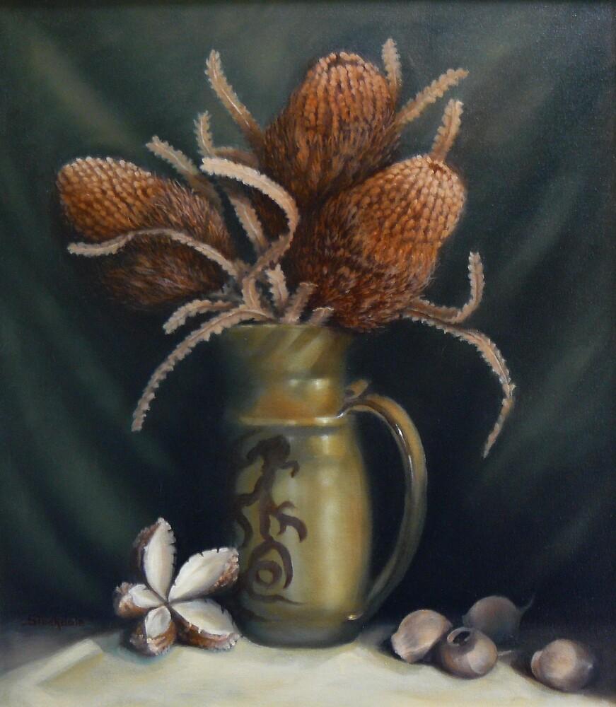 Seedpods  by Margaret Stockdale
