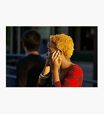 Mobile Telephone Conversation Photographic Print