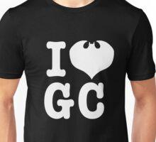 I Love GC: White Text Unisex T-Shirt