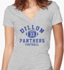 Dillon Panthers Football - 33 Women's Fitted V-Neck T-Shirt