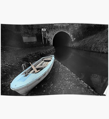 Bruce Tunnel and Little Blue Boat Poster
