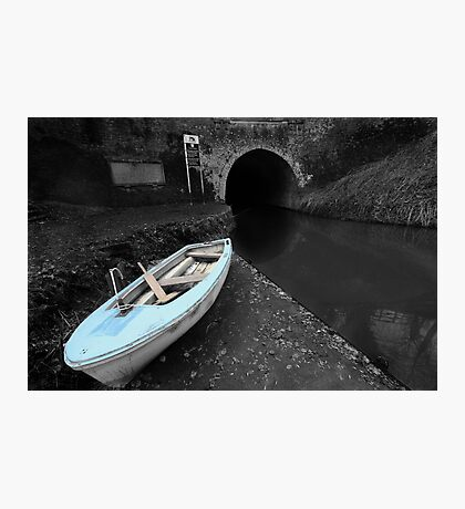 Bruce Tunnel and Little Blue Boat Photographic Print