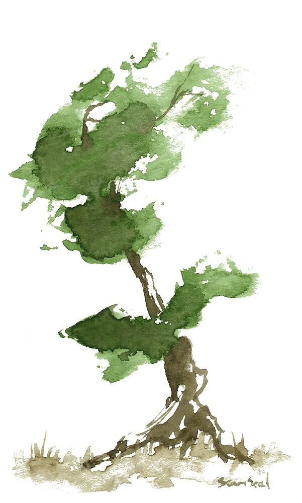 Little Zen Tree 184 by Sean Seal