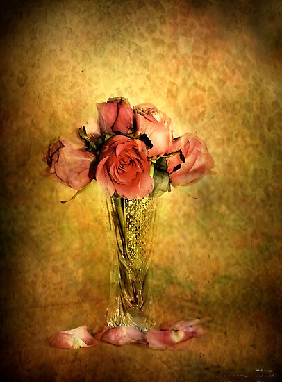 Vintage Roses by Irene  Burdell
