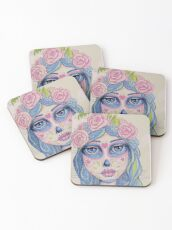Sugar Skull Girl 1 of 3 Coasters