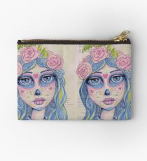 Sugar Skull Girl 1 of 3 Zipper Pouch