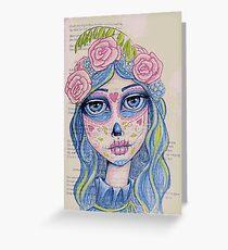 Sugar Skull Girl 1 of 3 Greeting Card