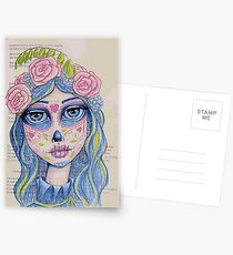 Sugar Skull Girl 1 of 3 Postcards