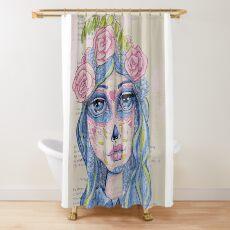Sugar Skull Girl 1 of 3 Shower Curtain