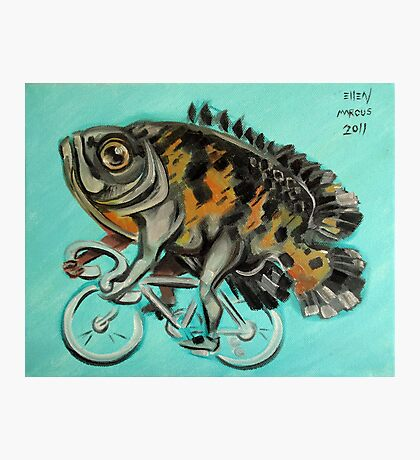 Oscar On A Bicycle Photographic Print