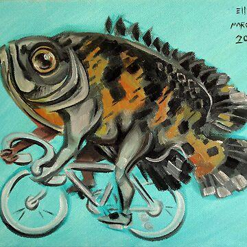 Oscar On A Bicycle by ellemrcs