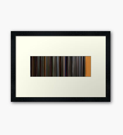 Moviebarcode: How to Train Your Dragon (2010) Framed Print