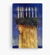 St. Lucia - John Bauer, advent  Canvas Print