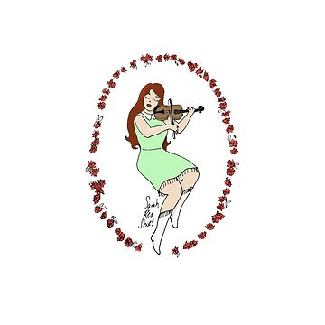 Fiddle pinup goddess - Violin Girl by SarahRedShoes
