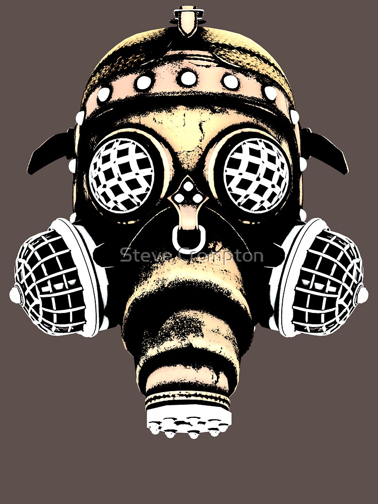 Steampunk / Cyberpunk Gas Mask #1B Steampunk T-Shirts by SC001