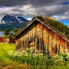 Traditional Houses at Hella, Kvaloy. Tromso, North Norway. by PhotosEcosse