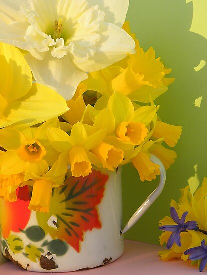 A Cup Of Golden Daffodils by NatureGreeting Cards ©ccwri