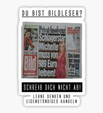 du bist bild leser? (Version 1) Sticker