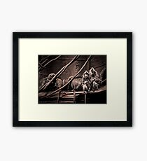 Channeling Dorothea Lange in Indonesia Framed Print