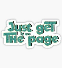 Just get it on the page Sticker